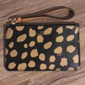 Never Used Leopard Print Coach Wristlet